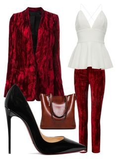 """Work It"" by aleksanowak on Polyvore featuring Haider Ackermann and Christian Louboutin"