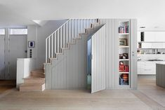 Under Stairs Storage Ideas For Small Spaces Making Your House Stand Out , The concept of under stair storage generally implies a custom made design and that usually means you have the freedom to determine precisely how you w. Hallway Shoe Storage, Staircase Storage, Attic Storage, Closet Storage, Staircase Landing, Staircase Design, Staircase Architecture, Staircase Ideas, Modern Staircase