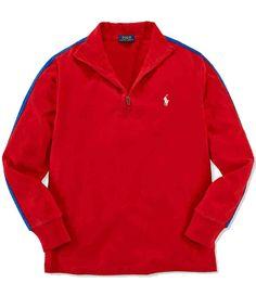 NWT Ralph Lauren Boys Sueded Jersey Half Zip Mock Neck Pullover Shirt Size 4T #RalphLauren #Everyday