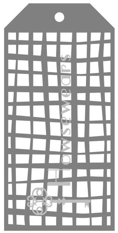 Craft Tag StencilRectangular Grid8.5 x 4.125A10 by Howsewears, $5.00