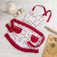 This classic pattern has been a signature style apron for over 40 years. Apron features two large front pockets with extra-long neck and waist ties.    Whether you're looking for stocking stuffers, Secret Santa presents, festive Christmas decor or even gift cards, we have a huge selection of unique holiday stuff to make your days and nights merry and bright.