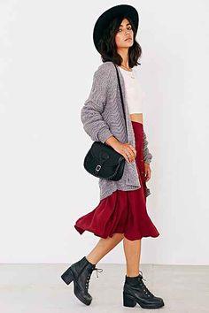 Ecote Button-Down Midi Skirt - Urban Outfitters