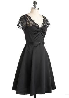 Black Tie Optimal Dress, #ModCloth  Beautiful for Bridesmaid/cocktail/formal.  This one would be a great addition to anyones LBD essential wardrobe.  139.99