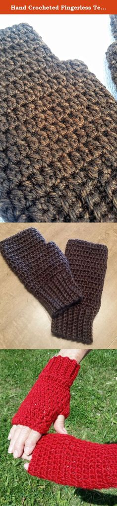 Hand Crocheted Fingerless Texting Gloves, Arthritis Fibromyalgia Hand Warmers, Rich Brown. These gloves will leave your fingers free for texting and work, and your hands warm, and look great doing it! These beautiful soft fingerless gloves are of a light, silky, premium acrylic in a rich brown. Gorgeous yarn shot through with black and golden undertones. If you have joint issues, you know that going in and out of air conditioning, playing cards or socializing in a too-cool room, even…