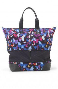 Butterfly Print Weekender & Overnight Bag | Mariposa Getaway Bag | Stella & Dot