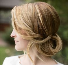 Loose-tucked chignon by Stephanie Brinkerhoff
