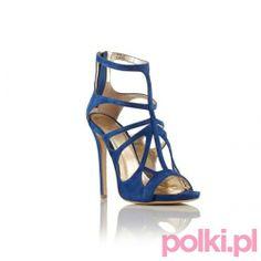 Niebieski sandałki na obcasie Baldowski by Zień #polkipl #buty #shoes #baldowski #zien