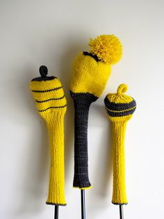 Laura's Loop: Knit Golf Club Covers by the purl bee, via Flickr - the hubs has requested a set :)