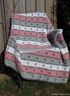 Hele mooie deken en patroon schijnt niet te moeilijk te zijn.