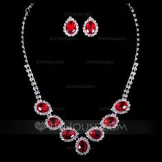 Jewelry - $8.99 - Attractive Rhinestones/Crystal Ladies' Jewelry Sets (011040362) http://jjshouse.com/Attractive-Rhinestones-Crystal-Ladies-Jewelry-Sets-011040362-g40362