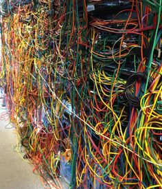 Server Cable Disasters That Look Like Famous Paintings Electrical Installation, Electrical Wiring, Electrical Engineering, Microsoft Windows, Linux, Vrod Harley, Data Center Design, Contemporary Baskets, Structured Cabling