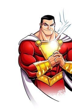 Shazam Comic, Shazam Dc Comics, Dc Comics Superheroes, Dc Comics Characters, Original Captain Marvel, Captain Marvel Shazam, Anime Character Drawing, Comic Character, Marvel Images