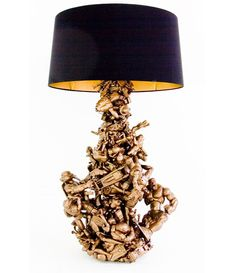 Lamp made out of old toy figures. Awesome! #toys #lamp