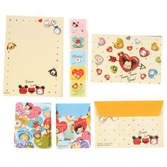 [Official] Disney Store | mini letter set TSUM TSUM FEVER Disney characters: | Disney Goods Gift of official mail order site Disneystore