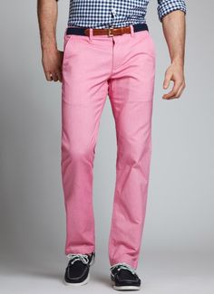Oxleys-Summer Red, Bonobos 100% cotton Red Oxford Pants. $98