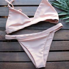 a4c9200663ea7 the blush minimalist bikini - shophearts - 1 Cute Swimsuits, Cute Bikinis,  Pink Bikini