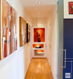 modern Corridor, hallway & stairs by Studio Sabatino Architetto