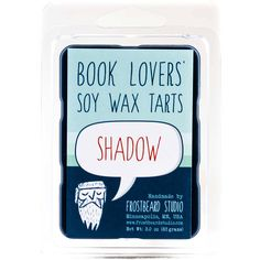 Shadow Book Candle Tart Book Lover Gift Scented Soy Candle Melt... ($6.75) ❤ liked on Polyvore featuring home, home decor, candles & holders, grey, home & living, home décor, wax melts, gray home decor and grey home decor