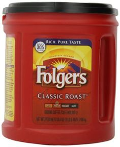 Folgers Coffee, Classic(Medium) Roast, 51 Ounce Folgers Classic Medium Ounce CanisterFinely GroundAroma Seal Canister Made from Mountain Grown beans, the worlds richest and most aromatic. Folgers Classic Roast Coffee has b Folgers Coffee, Decaf Coffee, Coffee Ground Scrub, Eating Before Running, Espresso, Coffee Mix, Taste Made, Coffee Branding, Dark Roast