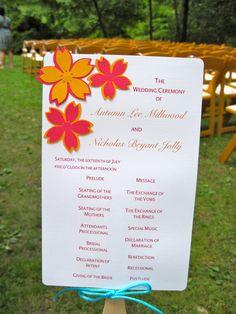 Fan Wedding Program