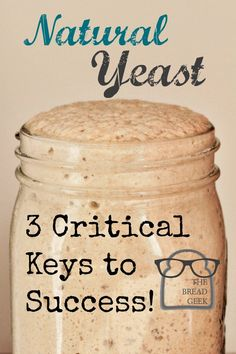 natural yeast 3 critical keys to success cover|via www.TheBreadGeek.com