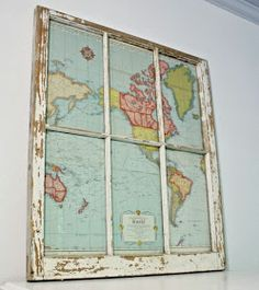 Robb Restyle: Window to the World: DIY Map Project