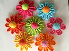 New Fabric Flowers-do in different color