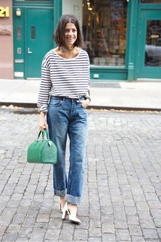 Sisterhood of The Traveling Handbags | Man Repeller in MiH Halsy Jeans