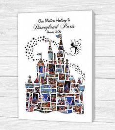 Personalised Disney Castle Canvas, Print, Framed Print or Digital Copy - Paris Disneyland Pictures Disney Diy, Disney Home Decor, Disney Crafts, Disney Love, Disney Magic, Disney World Trip, Disney Vacations, Disney Trips, Disney Kunst