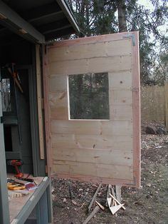"Useing 1/4"" shims as spacers and build the door in place.  Great idea, as I have yet to make something square.......D."
