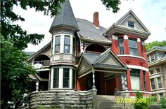 Queen Anne Victorian James W Bryan House Kansas City Victorian House Interiors, Victorian Design, Victorian Homes, Architecture Old, Historical Architecture, Victorian Architecture, Old Mansions For Sale, Building A New Home, Old House Dreams