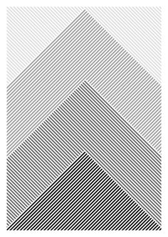 Creative Print and Design image ideas & inspiration on Designspiration Line Patterns, Graphic Patterns, Textile Patterns, Geometric Designs, Geometric Art, Geometric Pattern Design, Triangle Design, Triangle Pattern, Stripes Design