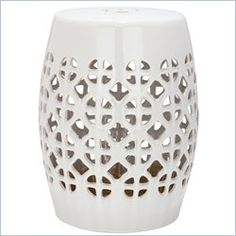 Ceramic Garden Stool. Perfect As A Foot Rest In The Shower!