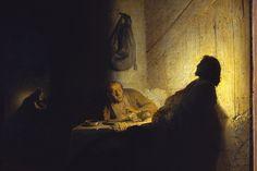 Rembrandt - Los peregrinos de Emaus