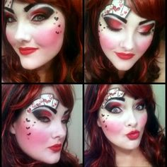 ... alice in wonderland inspired make up the queen of hearts ...