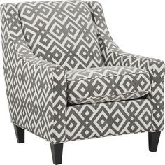 Cindy Crawford Home Chelsea Hills Gray Accent Chair - Rooms To Go Yellow Accent Chairs, Brown Accent Chair, Accent Chairs For Living Room, Cindy Crawford Home, Chairs For Sale, Chelsea, Gray, Vanity Chairs, House Furniture