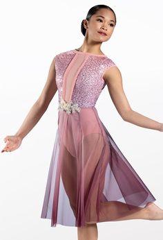 Weissman® Lyrical Costumes, Mesh Skirt, Dance Dresses, Elegant Dresses, Leotards, Polyester Spandex, Perfect Fit, Bodice, Sequins