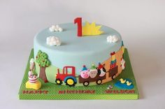 super cute farm animals cake