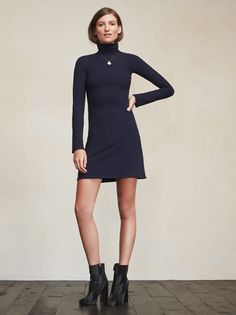 We gave you a little more up top and a little less on the bottom with this one. The Rochelle Dress is the perfect thing to take you into those colder months. https://www.thereformation.com/products/rochelle-dress-navy?utm_source=pinterest&utm_medium=organic&utm_campaign=PinterestOwnedPins