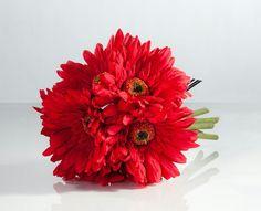 Red gerberas bouquet
