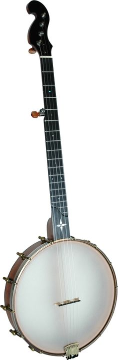 Banjos > 5-String Open-Back > Old-Time > Minstrel MINSTREL          The MINSTREL is similar to the Tupelo except it has a mid 19th century scroll peghead and a four-pointed MOP star inlayed in the fingerboard S-scoop. It includes a deluxe hard-shell, plush-lined