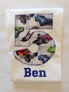 HOT WHEELS BIRTHDAY Shirt. Kids Appliquéd Personalized T-Shirt. Boy Girl Toddler Children's Race Car Party Gift by BugaboosCloset on Etsy https://www.etsy.com/listing/231628456/hot-wheels-birthday-shirt-kids-appliqued