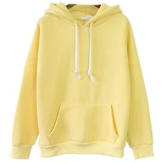 Womens Cute Harajuku Pastel Yellow Banana Hoodies Sweatshirts ($23) ❤ liked on Polyvore featuring tops, hoodies, sweatshirts, yellow top, hoodies sweatshirts, hooded pullover sweatshirt, yellow hoodies and hooded pullover