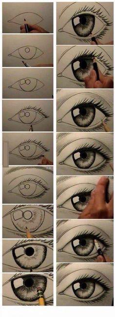 Рисуем глаз поэтапно