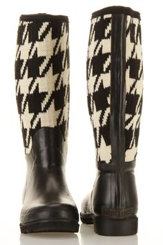 Houndstooth Rainboot
