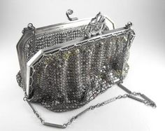 Whiting and Davis Mesh Bag Early 20th Century 800 by hipcricket, $65.00