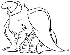 Dumbo Elephant Coloring Pages. Disney fans certainly know about the elephant film Dumbo. Dumbo is a character in Disney's book and animation that was first released in Dumbo, . Minion Coloring Pages, Disney Coloring Pages, Free Coloring Pages, Coloring Books, Printable Coloring, Coloring Sheets, Images Disney, Art Disney, Disney Kunst