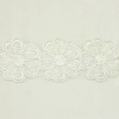 White Metallic Flower Floral Lace trim by the yard - Bridal wedding Lace Trim wedding fabric Millinery accent motif scrapbooking crafts lace for baby headband hair accessories dress bridal accessories by Annielov trim 334 ** Visit the image link more details.