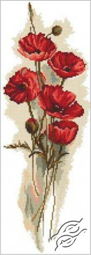 Oriental Poppies I - Cross Stitch Kits by RTO - M449