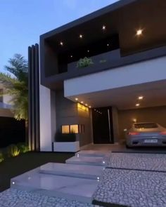 """G & V Options & Solutions Inc. on Instagram: """"Selling your house? Contact us and we can make the process much easier!"""" Best Modern House Design, Modern Exterior House Designs, Dream House Exterior, Modern House Plans, Exterior Design, House Gate Design, Duplex House Design, House Front Design, Home Building Design"""